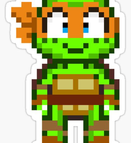 Mikey TMNT 2012 Mini Pixel Sticker