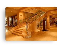 stairs in the Fairmont Chateau Laurier Canvas Print