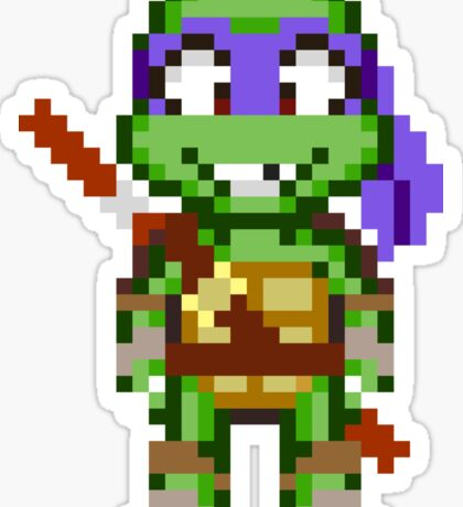 Donnie TMNT 2012 Mini Pixel Sticker