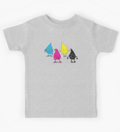 Four Ink Drops Kids Tee