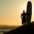 Long boarder watching the waves by homydesign
