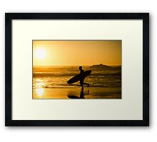 Surfer running Framed Print
