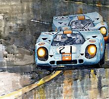 Porsche 917K Gulf Le Mans 24 1970  by Yuriy Shevchuk