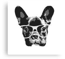 nerd dog Canvas Print