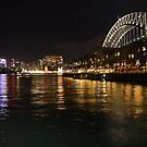 Night Scene - The Wharf  Area Sydney by Loreto Bautista Jr.