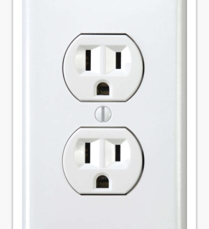 There's never an outlet where you need one. Sticker