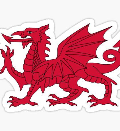 Red Welsh Dragon - Flag of Wales - Sport T-Shirt Sticker Bedspread Duvet Sticker