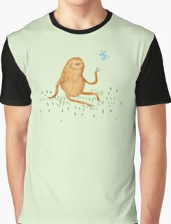 Sloth & Butterfly Graphic T-Shirt