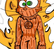 cat torch Sticker