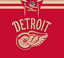 Detroit Red Wings 2014 Winter Classic Jersey by Russ Jericho