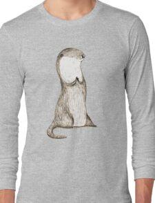 Sitting Otter Long Sleeve T-Shirt