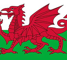 Wales National Flag - Welsh Rugby Football Fan Sticker T-Shirt Bedspread by deanworld