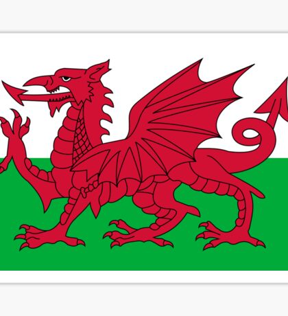 Wales National Flag - Welsh Rugby Football Fan Sticker T-Shirt Bedspread Sticker