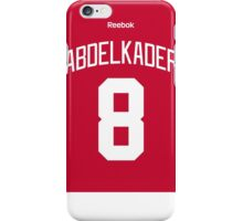Detroit Red Wings Justin Abdelkader Jersey Back Phone Case iPhone Case/Skin