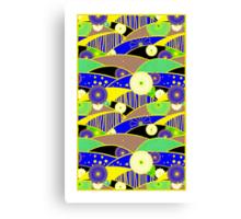 Chiyogami Lapis & Lemon [iPhone / iPod Case and Print] Canvas Print