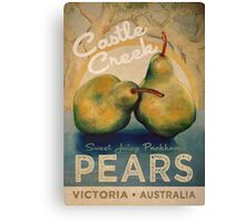 Castle Creek Pears Sign Canvas Print