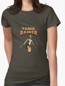 Tomb Raider classic pixel madness Womens Fitted T-Shirt