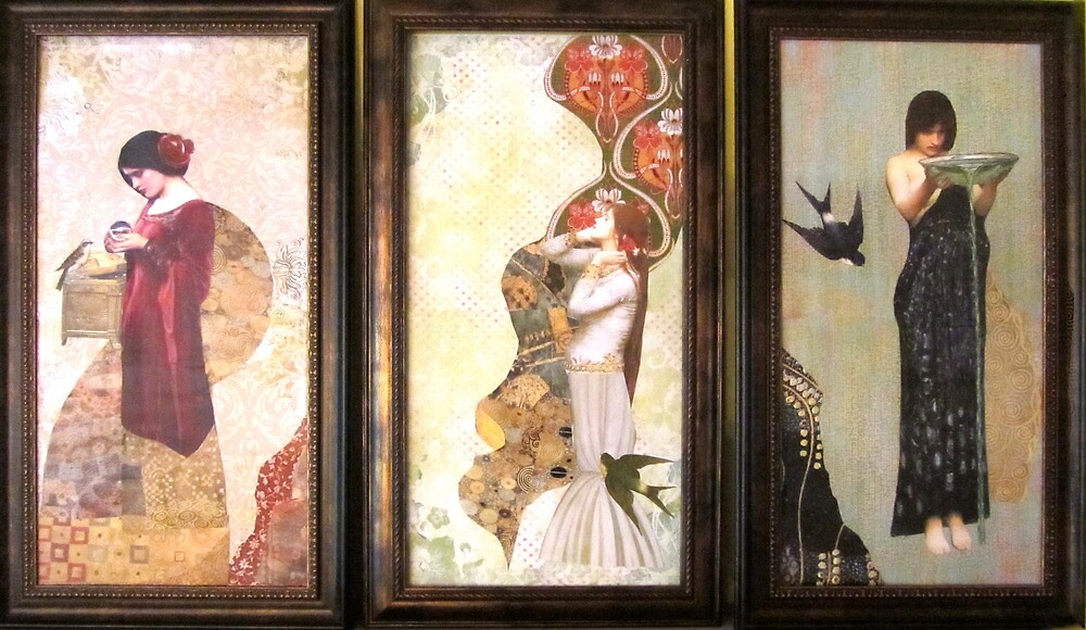 Triptych  by Kanchan Mahon