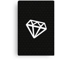 Diamond and Coal Canvas Print