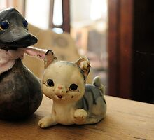 Cat and duck by ashley hutchinson