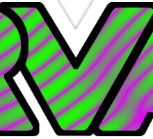 RVA Logo in Wild Pink and Green Sticker