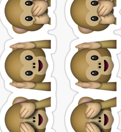See No Evil, Hear No Evil, Speak No Evil Emoji Sticker