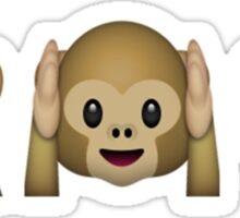 Monkey Emoji - See No Evil, Hear No Evil, Speak No Evil Sticker