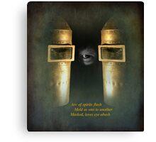masquerade - haiku ....again Canvas Print