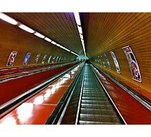 Prague tube station Photographic Print