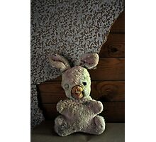Creepy bunny doll Photographic Print