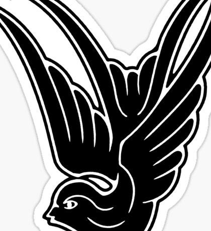 Black Swallow Sticker
