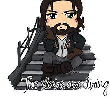 Athos - Tiring Stairs by burketeer