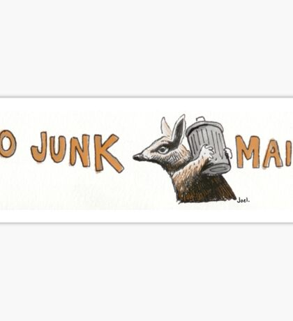 No Junk Mail - Numbat Sticker