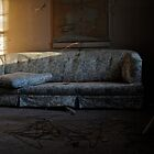 Floral Print Couch by ashley hutchinson