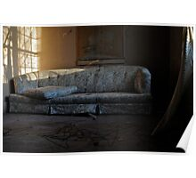 Floral Print Couch Poster
