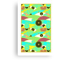 Chiyogami Turquoise & Dusty Rose [iPhone / iPod Case and Print] Canvas Print
