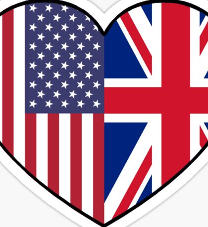 USA & UK Sticker