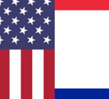 USA & France Sticker