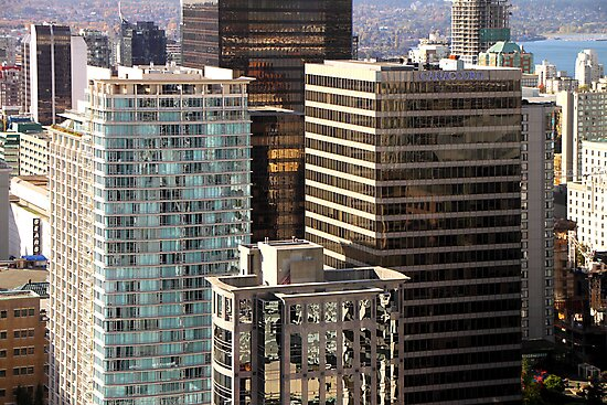Glittering Skyscrapers, Vancouver  by Carole-Anne