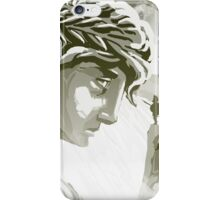 the spartan challenging the greek goddess Athena iPhone Case/Skin