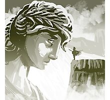 the spartan challenging the greek goddess Athena Photographic Print