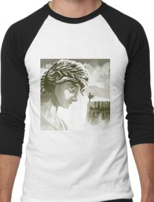 the spartan challenging the greek goddess Athena Men's Baseball ¾ T-Shirt