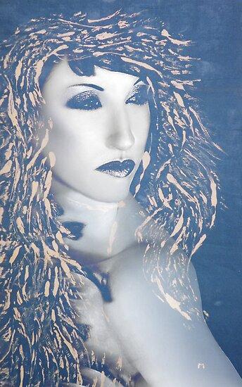 Desdemona Blue - SP - Mixed Media by Jaeda DeWalt