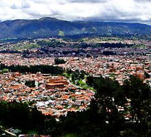 Turi and Cuenca Ecuador Panorama by Al Bourassa
