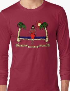 Let's Talk Dirty In Hawaiian Long Sleeve T-Shirt