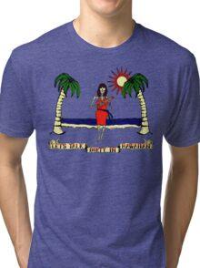Let's Talk Dirty In Hawaiian Tri-blend T-Shirt