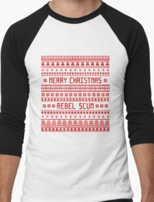 Merry Christmas Rebel Scum Men's Baseball ¾ T-Shirt