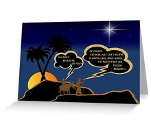 Funny atheist Jospeh and Mary Greeting Card