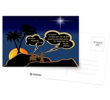 Funny atheist Jospeh and Mary Postcards