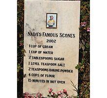 Nada's Famous Scones Photographic Print